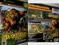 XBOX LIVE Gioco CABELAS DANGEROUS HUNTS CACCIA GIOCO ANIMALI GIOCO attrezzature NUOVO OVP