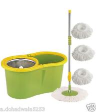 Easy mop 360 Degree Spin Magic with steel bucket, steel pole3 refils,BEST QUALI