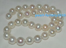 AAA 13-12MM Akoya GENUINE WHITE PEARL NECKLACE