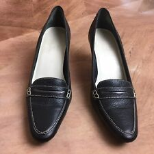 Cole Haan Black Leather Women's Heels Career Casual Dress Pumps Shoes 8B $198