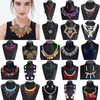 Fashion Womens Chain Statement Collar Bib Pendant Chunky Charm Necklace Jewelry