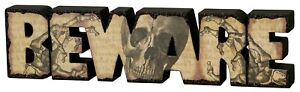 Beware Skull Chunky Word by Primitives by Kathy