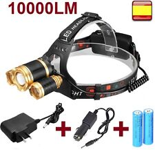 Linterna frontal cabeza recargable OUTDOOR 10000LM 3x XM-L XML T6 Headlamp
