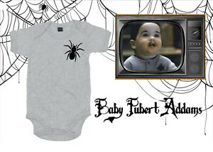 0-18m Addams Family Baby Pubert Spider Bodysuit/Baby Grow Halloween Novelty