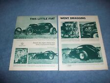 """1948 Fiat Topolino A/Altered Vintage Article """"This Little Fiat Went Dragging"""""""