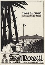 Z4041 Tende da campo Ettore MORETTI - Illustrazione - Pubblicità - 1936 old ad