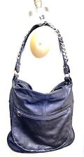 RARE Pietro Alessandro Blue Matte Leather 4010 Shoulder Bag Machine Age Chain