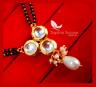 S87P, Daphne Bollywood Actress Chandni Kundan Style Mangalsutra Karwa Chauth ...