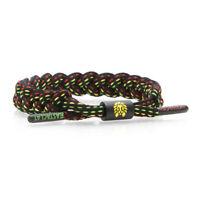 Rastaclat NBA Atlanta Hawks Black Red Green Sports Shoelace Bracelet RC001ATL