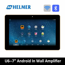 "HELMER 7"" WIFI Stereo Audio System,Android Bluetooth Wall Amplifier,Black,U6BK"