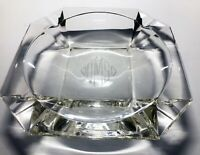 Antique or Vintage Lead Glass Cigar Ashtray Deco style with Monogram