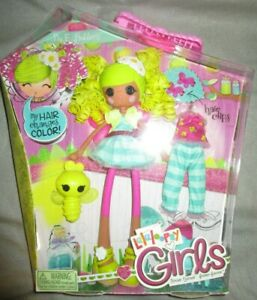 Lalaloopsy Girls Pix E. Flutters Doll Hair Color Change Pajams and Pet Cat
