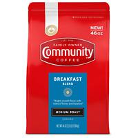 Community Coffee Ground, Breakfast Blend (46 oz.) Medium Roast