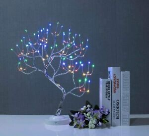 108LED Bonsai Twig Tree Lights Light Up Birch Christmas Tree Table Lamp Decor UK
