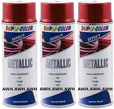 3x400ml Lackspray Metalliklack Sprühlack metalleffekt Acryllack Metallic Rot