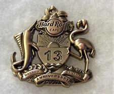 HARD ROCK CAFE NASSAU BAHAMAS 13TH ANNIVERSARY 3D BRONZE PIN # 95974