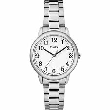 Ladies Timex Indiglo Silver Stainless Steel White Dial Watch TW2R23700