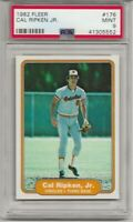 1982 FLEER #176 CAL RIPKEN JR. RC Rookie, PSA 9 MINT, BALTIMORE ORIOLES, HOF
