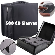 500 Sleeves CD DVD Carry Case Discs Bag Blu-ray Disc Wallet Holder Cover Storage