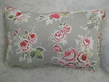 """Clarke & Clarke jardín de rosas Cojín rectangular 18 cm x 12 """"(46 cm x 30cm)"""
