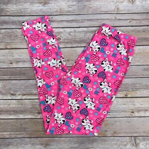 Puppy Dog Love Hearts Women's Leggings OS One Size 2-10 Buttery Soft