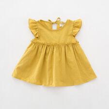 Baby Kids Girl Dress Toddler Princess Party Tutu Summer Cotton Soft Dress Cute