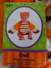 Baby Halloween NEW 2-piece Plush Costume OWL Animal, infant 0-9 months