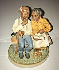 MASTERPIECE by HOMCO_ELDERLY AFRICAN AMERICAN COUPLE_ BIBLE STUDYING_SERIES 8828