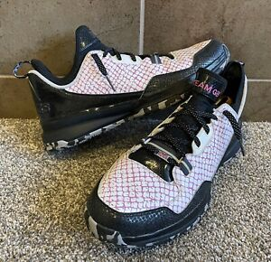 Adidas D Lillard 1 mi Custom Team GB Great Britain Men's Sz 15 Union Jack Shoes