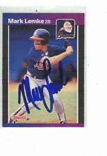 1984 Donruss Mark Lemke Atlanta Braves Authentic Autograph COA