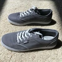 VANS Women's Size 6.5 Sneakers Gray Athletic Casual Skate Shoes Canvas