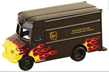 UPS Metal Flame Package Car Corporate Express Promo Truck Die Cast 1:55 Scale