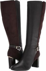 Bandolino Womens bilya Almond Toe Knee High Fashion Boots, Coffee, Size 6.5 1DPW