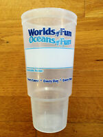 WORLDS OF FUN PROMO Employee Cup, NEW & RARE! Oceans of Fun, Kansas City. MO