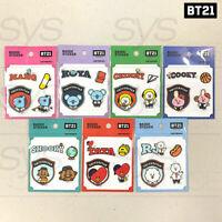 BTS BT21 Official Authentic Goods Badge Sticker Ver2 7SET by Kumhong Fancy