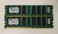 Kingston 2GB 2x1GB PC-3200 KVR400AK2/2GR DDR-400 RAM Sticks
