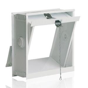 Lüftungsflügel Kippfenster 19x19cm für Glasbausteine für 1 Glasstein 19x19x8cm