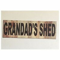 Grandads Shed Sign Man Small Garage Room Rustic Wall Plaque or Hanging