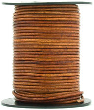 Xsotica® Brown Distressed Light Round Leather Cord 1.5mm 10 meters (11 yards)