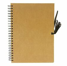 Seawhite cartonnée papier kraft sketch, Craft Display Wire-O Livre 40 feuilles-A4