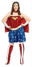 WONDER WOMAN COSTUME DRESS CAPE BOOT TOPS PLUS SIZE RU17440 NEW