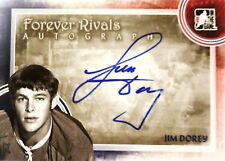 11-12 itg game forever rivals jim dorey toronto maple leafs autograph auto