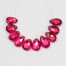 The Finest Mahenge Spinel Faceted Pear Briolettes Beads (10)