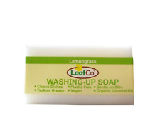 LoofCo Washing Up Soap Bar Lemon Lemongrass Scent Eco Natural
