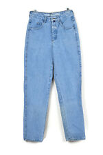 Francois Marithe Girbaud Women Tapered Light Wash High Waist Denim Mom Jeans 7/8