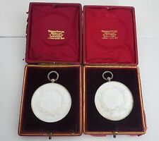 Agriculture Lunette Medallions in Original Boxes of Issue 1899 -1902
