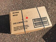 Box A US MRE 12 meals Rations Military RCIR USA Meal Exp- 2023. Insp.-2021