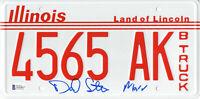 DANIEL STERN SIGNED AUTO 'HOME ALONE' LICENSE PLATE MARV BECKETT BAS COA 13