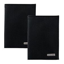 2 Faux Leather Travel Passport ID Card Holder Wallet Case Organizer Black