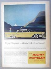 8x11 Orig 1958 Chrysler New Yorker Ad ENJOY CHRYSLER'S BOLD NEW LOOK OF SUCCESS
